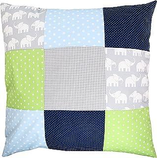 Funda patchwork para cojín de ULLENBOOM ® con elefantes