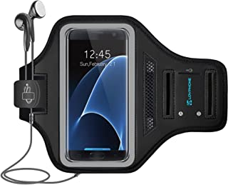 LOVPHONE Galaxy S7 Edge Armband Easy Fitting Sport Running Exercise Gym Sportband with Key Holder & Card Slot,Water Resistant and Sweat-Proof for Samsung Galaxy S7 Edge 2016 Release.