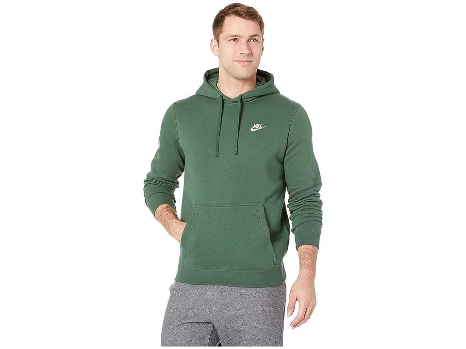 Nike Club Fleece Pullover Hoodie (Fir/Fir/White) Men