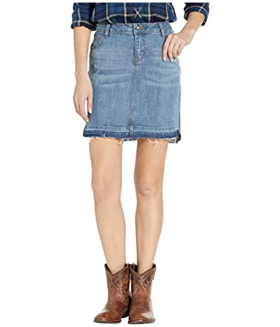 Stetson Medium Wash Denim Skirt (Blue) Women