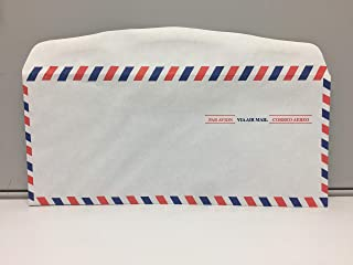 red and blue striped envelopes