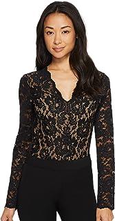 d8b339904241 Karen Kane Womens Scallop Lace Bodysuit