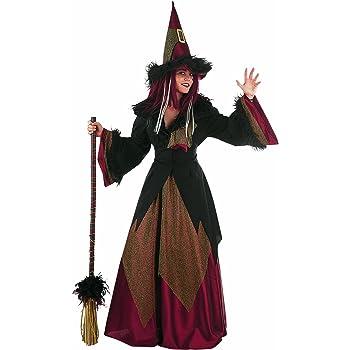 HS-ZM-06 Disfraz De Halloween Bruja Clásica Falda Señoras De La Falda De La Torta De Hadas con Sombrero Traje Trajes Cuento Tema De La Ropa del Club Nocturno De Cosplay: Amazon.es: Hogar