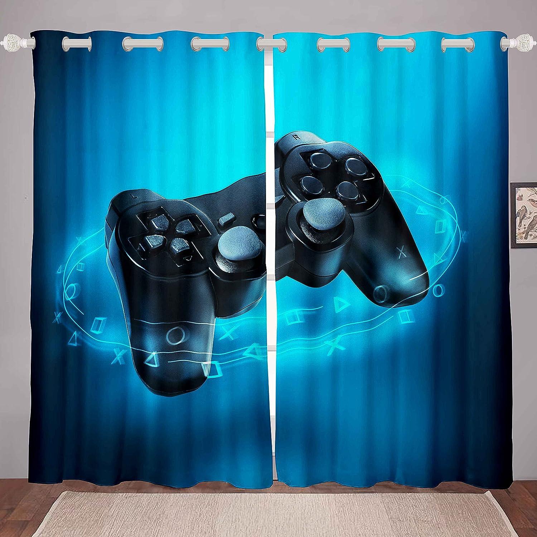 Boys 信託 Gamer Window Curtains for Bedroom Cut Living Gamepad Room C ●日本正規品●