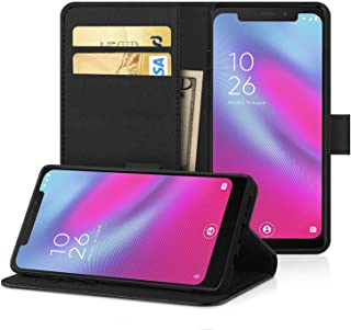 Desktop Cell Phone Stand DN-Alive Smart N10 Case Cover, For Vodafone Smart N10 Pu Leather [Wallet Case] [Card Holder] [ID ...