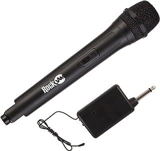 RockJam RJWM33-BK Highfidelity Wireless Microphone for karaoke and home Black