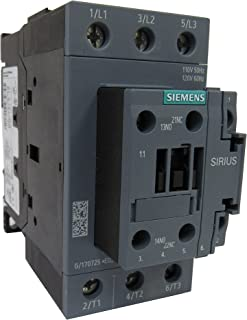 SIEMENS 3RT2036-1AK60 SIRIUS 3 POLE 50 AMP 120 VOLT AC CONTACTOR - 1NO+1NC AUXILIARY CONTACT