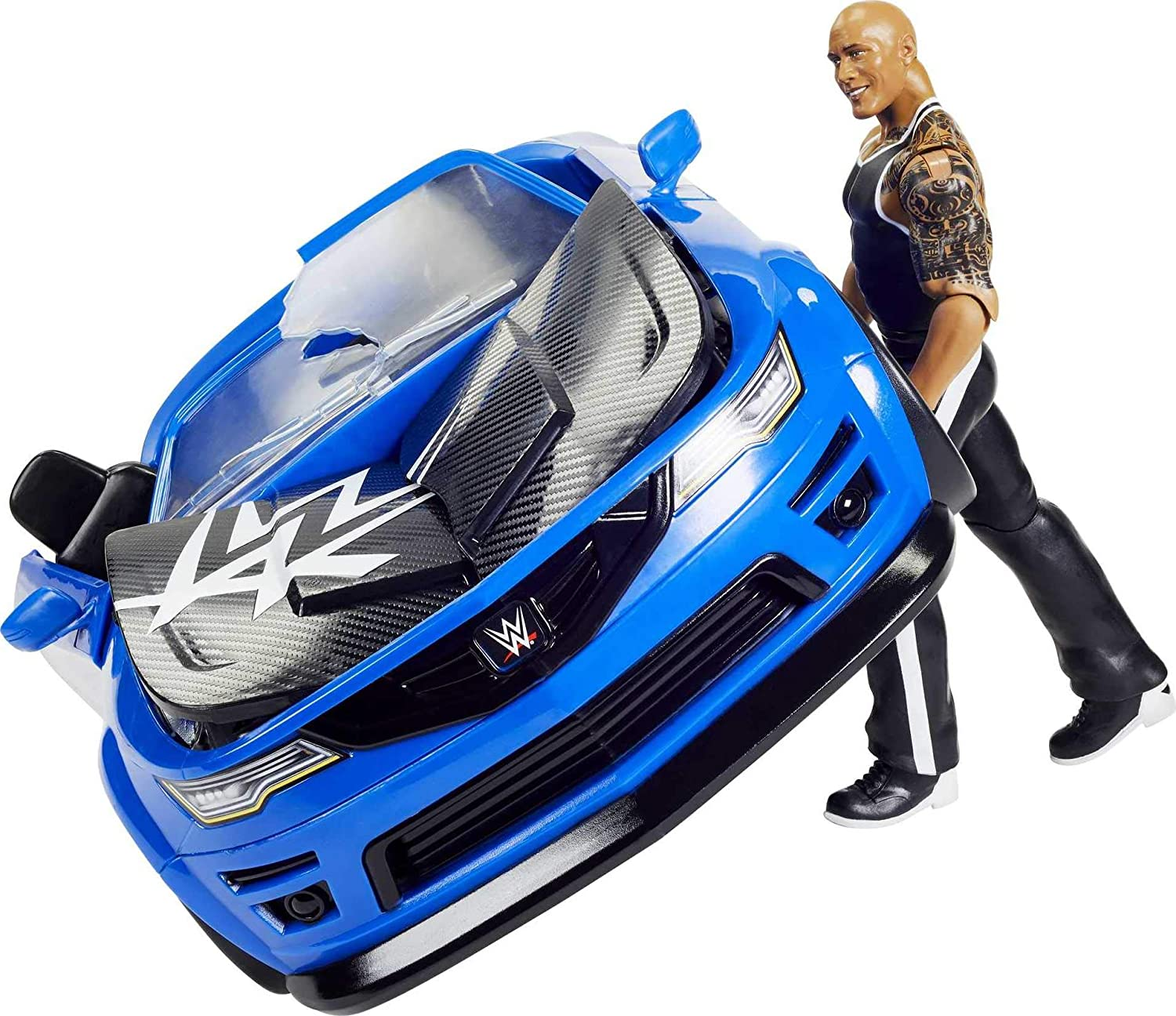 WWE Wrekkin' Slam-Mobile Vehicle (13-in) with Rolling Wheels and 8...