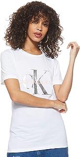 Calvin Klein Jeans Women's Metallic Monogram Slim Tee