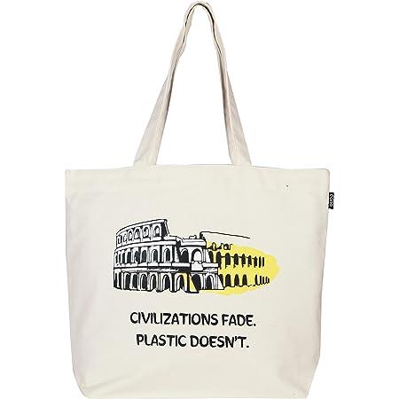 Eono Bolsos Grande Tote Para Mujer, Bolsas de la compra Reutilizables, Bolsas de lona 100% algodón con cremallera, Algono Bolsas de Supermercado, Regalo Tote Bag, Bolsa de Playa | 0201H01