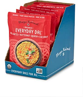 Maya Kaimal Organic Indian Red Lentil Everyday Dal, 10 oz (Pack of 6), Fully Cooked with..