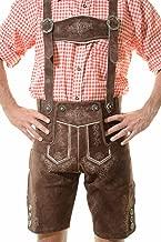 Men's Bavarian Lederhosen Tracht Oktoberfest Lederhosen For Sale Brown