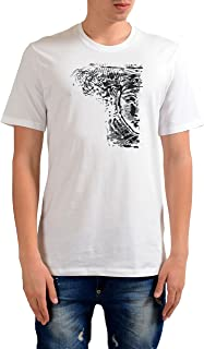 Collection Men's White Graphic Print T-Shirt US L IT 52;