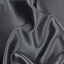 Satintyg Silke Tyg Mörkgrå DIY Sömnad Klädtillverkning Hantverk Fotografi Bakgrund Bröllopsklänning Dekoration Pyjamas Skj...