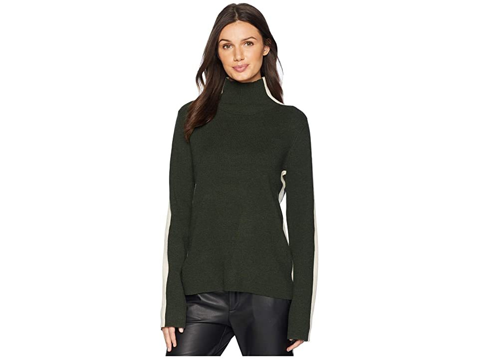 Susana Monaco Turtleneck Long Sleeve Sweater (Hunter Green) Women