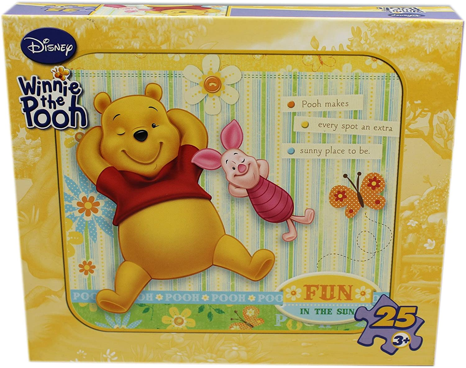 25 Piece Yellow Fun in the Sun Winnie the Pooh and Pigglet Puzzle