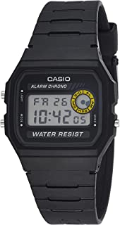 Casio Grey Dial Resin Band Watch - F-94Wa-8Dg, Black Band, Digital Display, For Unisex