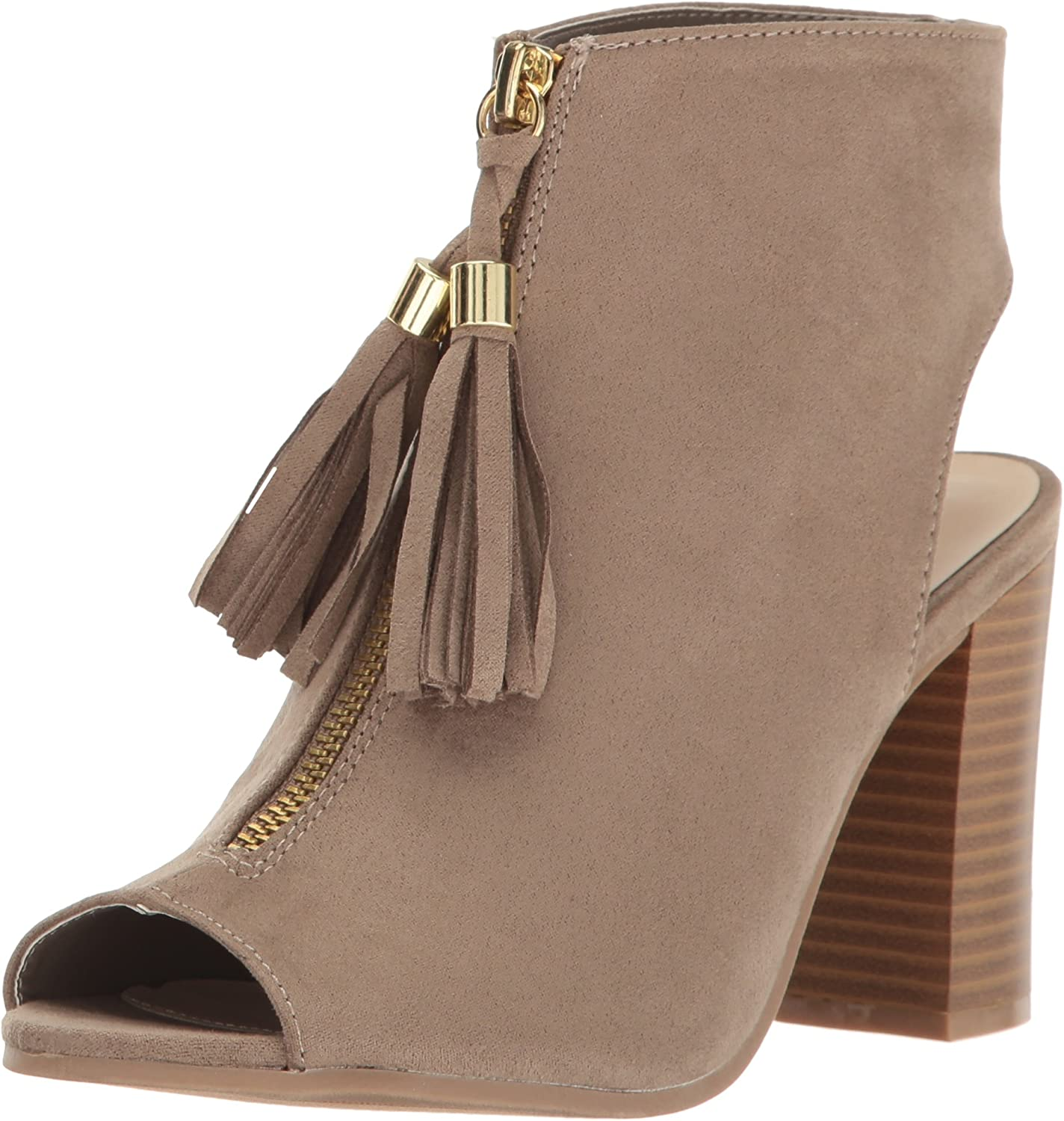 Qupid Women's Lucite-54a Dress Sandal Taupe