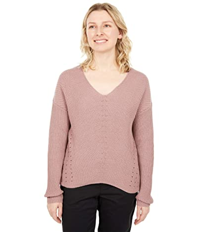 tentree Highline Cotton Light V-Neck Sweater (Twilight Mauve) Women