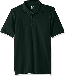 Classroom School Uniforms Kids Big Boys' Uniform Short Sleeve Interlock Polo, sos Hunter Green, XL