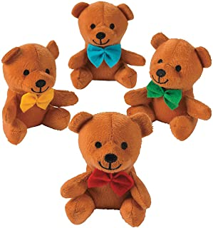 Fun Express - Plush Bow Tie Bears - Toys - Plush - Stuffed Bears - 12 Pieces