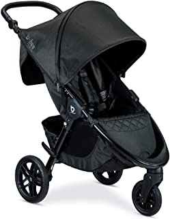 Best Britax B-Free Premium Stroller, Black Shimmer Nanotex Stain Resistant Fabric - Adjustable Handlebar - Easy One-Hand Fold - Includes Car Seat Adapters for Britax, Maxi COSI, Cybex and Nuna Review