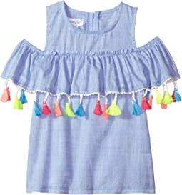 Chambray Tassel Off the Shoulder Top (Infant/Toddler)