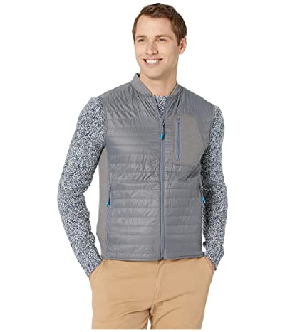 Southern Tide Forrest Creek Quilted Bomber Vest (Smoked Pearl) Men
