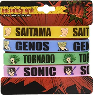 One Piece One Punch Man Multi Pack Pac Wristband Miniature Novelty Toys,,