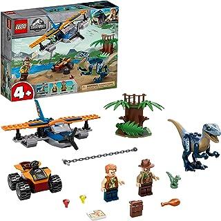 LEGO Jurassic World Velociraptor: Biplane Rescue Mission 75942, Dinosaur Toy for Preschool Kids, Featuring a Buildable Pla...