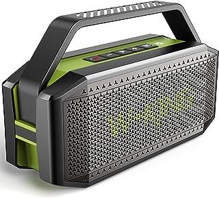 Bluetooth Lautsprecher, W-KING 60W Tragbarer Bluetooth Box, IPX6 Wasserdichter Bass Musikbox, Lautsprecher Boxen, 12000mAh Powerbank, 40H Spielzeit, mit NFC, AUX, TF Karten
