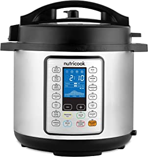 Nutricook Smart Pot Prime by Nutribullet 1000 Watts - 10 in 1 Instant Programmable Electric Pressure Cooker, 6 Liters, 16 ...