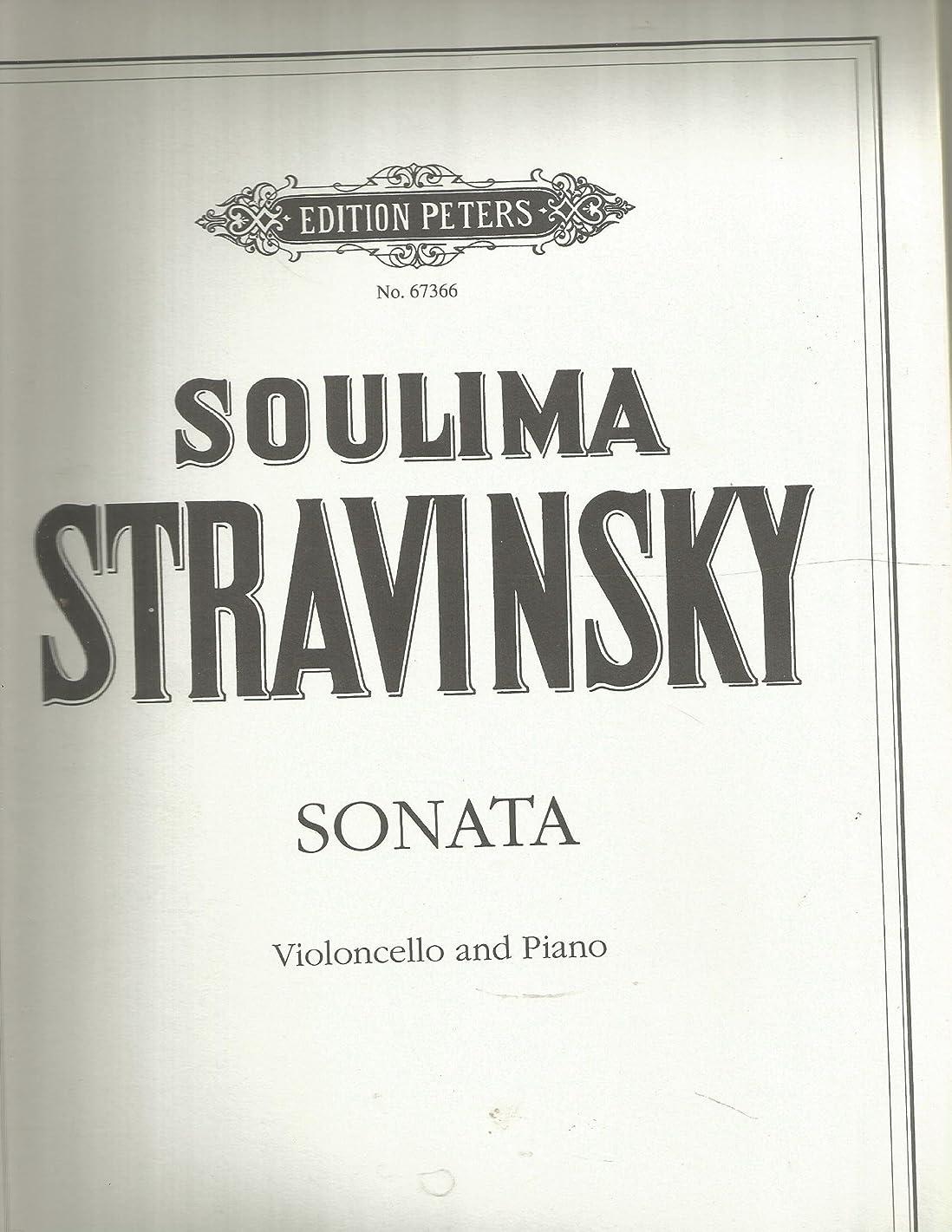 Soulima Stravinsky Sonata (Violoncello and Piano) No. 67366
