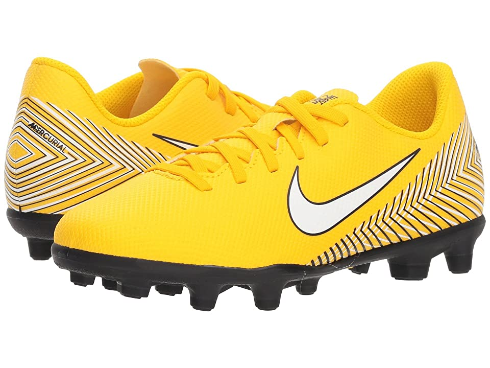 Nike Kids Neymar Jr. Vapor 12 Club MG Soccer (Little Kid/Big Kid) (Amarillo/White/Black) Kids Shoes