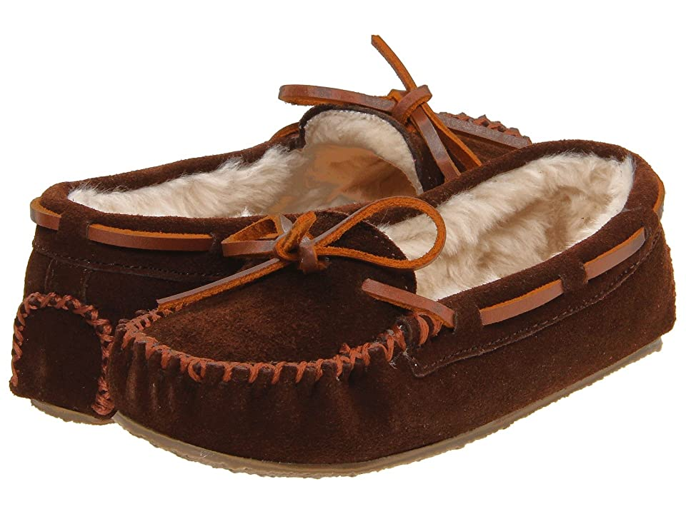 Minnetonka Kids Cassie Slipper (Toddler/Little Kid/Big Kid) (Chocolate Suede) Girls Shoes