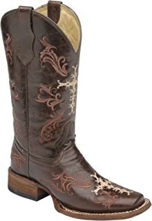 Corral Circle G Women's L5080 Cross Embroidery Brown Western Boots 10 M
