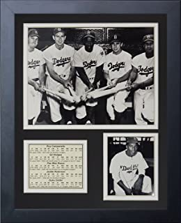 Legends Never Die Brooklyn Dodgers 50's Big Five Framed Photo Collage, 11 by 14-Inch
