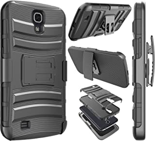 Njjex for Galaxy Mega 6.3 Case, [Ngate] Armor Swivel Locking Holster Belt Clip Kickstand Heavy Defender Full Body Carrying Phone Case Cover for Samsung Galaxy Mega 6.3 i9200/i9205/i527 [Black]