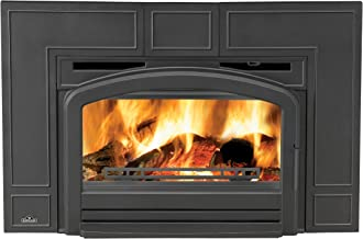 """Napoleon Oakdale EPI3 Series EPI3T 43"""" Natural Vent Wood Burning Fireplace Insert with Up to 55 000 BTU's Cast Iron Surround Airwash System Full Refractory Lined Firebox Blower Kit"""