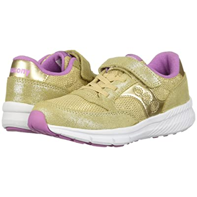 Saucony Kids Originals Jazz Lite A/C (Little Kid) (Gold Sparkle) Girls Shoes