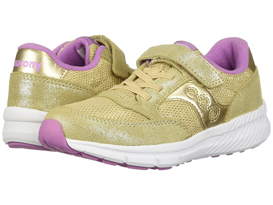 Saucony Kids Originals Jazz Lite A/C (Little Kid) (Gold Sparkle) Girls Shoes