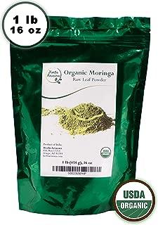 Premium Quality Fine Moringa Leaf Powder 1lb 16 oz, USDA Organic, Gluten Free, Nutrient Rich