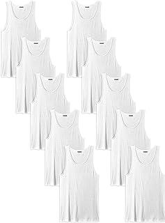 Andrew Scott Men's 10-Pack Color A Shirt Tank Top Undershirts
