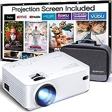 Proyector APEMAN 5000 Lúmen Mini Proyector Portátil LCD Proyector de Cine en Casa 50000 Horas Soporte de Pantalla 1080P HD...