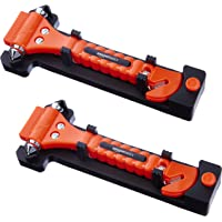 2-Pack Amazon Basics Emergency Seat Belt Cutter and Window Hammer