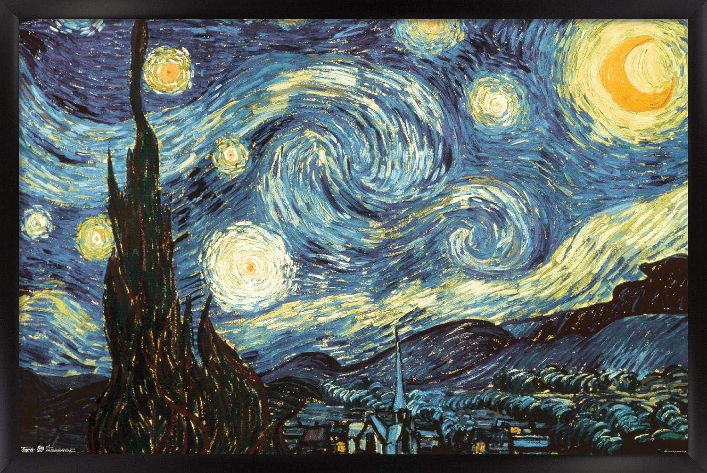Trends International Starry Night Wall Bl Poster 22.375