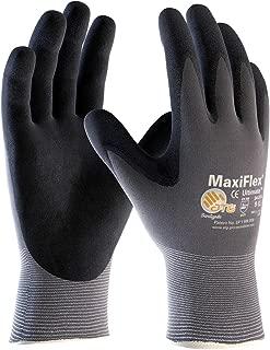 Maxiflex 34-874 Ultimate Nitrile Grip Work Gloves, 3X-Large, 3 Pair