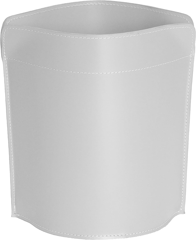 CANISTRO  Papierkorb aus Leder Farbe weiß, Leder Papierkorb für Büro Badezimmer küche Schlafzimmer, Made in  by Limac Design®. B071HSG2X7 | Sehr gute Farbe