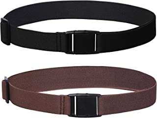 Womens Invisible Belt Elastic Adjustable - No Show Web Belts For Women 2 Pieces