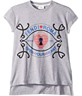 Fendi Kids - Short Sleeve Heart Lock Graphic T-Shirt (Big Kids)